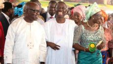 Governor Emmanuel Uduaghan and Senator Ifeanyi Okowa and wife at thanksgiving
