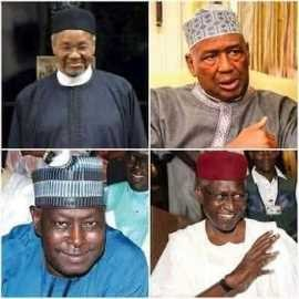 Mamman Daura, Buhari's beloved nephew, Ismailia Isa Funtua, his in-law (Funtua's son is married to the president's daughter), and Babagana Kingibe,