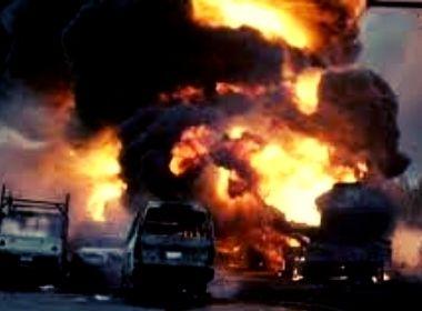 petrol tanker fire photo