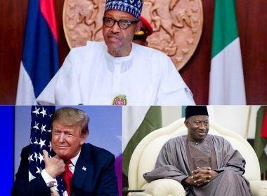 Muhammadu Buhari, Donald Trump and Goodluck Jonathan Photo