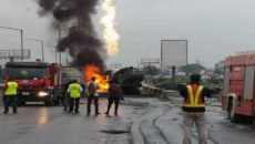 fuel tanker explosion on Kara bridge, Lagos-Ibadan Expressway