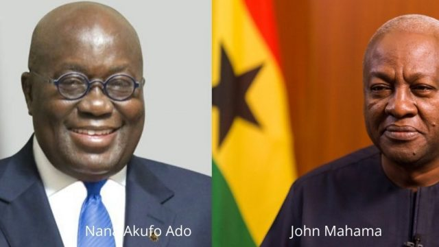 President Nana Akufo Ado and president John Mahama Photo