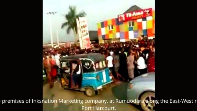 The premises of Inksnation Marketing company, at Rumuodara along the East-West road Port Harcourt. Photo