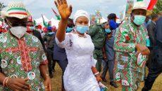 Catherine Amaka Ugwueze and Gov. Ifeanyi Ugwuanyi on campaign trail Photo