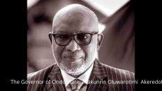 the Governor of Ondo State, Arakunrin Oluwarotimi Akeredolu Photo