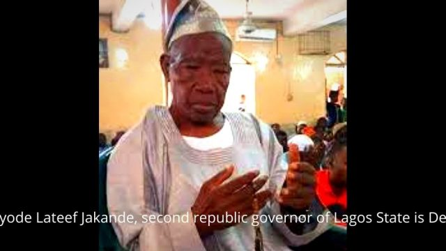 Kayode Lateef Jakande, second republic governor of Lagos State Photo