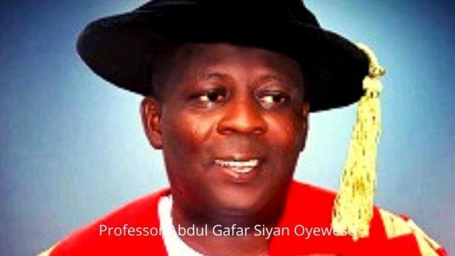 Professor Abdul Gafar Siyan Oyeweso Photo