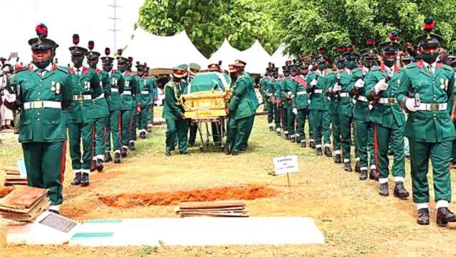 The late Chief of Army Staff, COAS, Lt. Gen. Ibrahim Attahiru was laid to rest photo